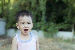 Il ragazzo asiatico sta gridando immagini stock libere da diritti