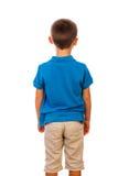 Il ragazzo che fa una pausa una parte posteriore Fotografie Stock