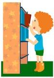 Il ragazzo con il libro illustrazione di stock