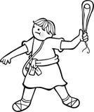 Il ragazzo David illustrazione di stock
