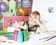 Il ragazzo dell'illustrazione. Immagine Stock Libera da Diritti