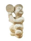 Il ragazzo di pietra della scultura in Nami Island South Korea Fotografia Stock