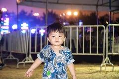 Il ragazzo nel festival di musica Fotografia Stock Libera da Diritti