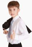Il ragazzo si è vestito in legame e rivestimento Immagine Stock Libera da Diritti