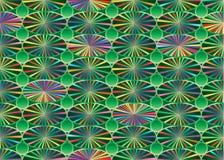 Il raggio variopinto verde dello stagno collega il modello senza cuciture Fotografia Stock Libera da Diritti