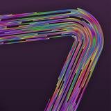 Il Rainbow astratto allinea la priorità bassa Fotografia Stock