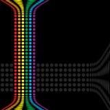 Il Rainbow circonda la disposizione illustrazione vettoriale