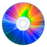 Il Rainbow colora il compact disc Fotografia Stock Libera da Diritti