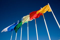 Il Rainbow delle bandierine Immagine Stock Libera da Diritti
