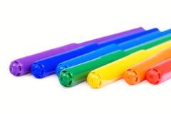 Il Rainbow di morbido-capovolge la penna Fotografie Stock