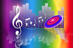 Il Rainbow fa la musica Immagini Stock Libere da Diritti