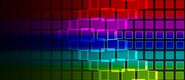 Il Rainbow quadra la composizione Immagine Stock