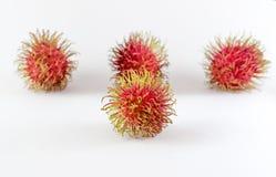 Il Rambutan è dolce asiatico del sud di sapore della frutta Isolato su bianco Immagini Stock