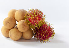Il Rambutan e Longkong sono dolce asiatico del sud di sapore della frutta Fotografia Stock Libera da Diritti
