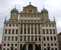 Il Rathaus magnifico nella città di Augusta in Baviera (Germania) Immagine Stock Libera da Diritti
