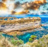Il Razorback, una formazione rocciosa al punto di vista della gola di Ard del lago Fotografia Stock Libera da Diritti