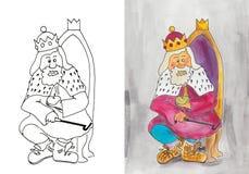Il re anziano Immagini Stock