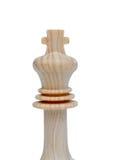 Il re. Pezzo degli scacchi di legno Fotografia Stock Libera da Diritti