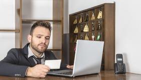Il receptionist Immagini Stock Libere da Diritti