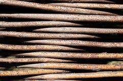 Il recinto dei ramoscelli tessuti Fotografie Stock