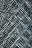 Il recinto ingranato, la rete metallica, la rete metallica, rabitz, ha rotolato la recinzione Fotografia Stock Libera da Diritti