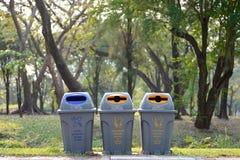 Il recipiente ed il tipo riciclano Fotografie Stock Libere da Diritti