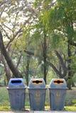 Il recipiente ed il tipo riciclano Fotografia Stock