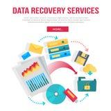 Il recupero di dati assiste l'insegna royalty illustrazione gratis