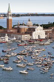 Il Redentore. Boats near the Redentore church in Venice, Italy Royalty Free Stock Images