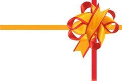 Il regalo è decorato da un arco. Fotografia Stock Libera da Diritti