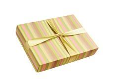 Il regalo boxisolated su bianco Fotografia Stock Libera da Diritti