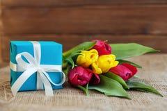 Il regalo dei fiori Festa di concezione, l'8 marzo, compleanno, lepidottero Fotografie Stock