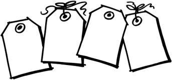 Il regalo etichetta il clipart di vettore del fumetto del modello Fotografia Stock