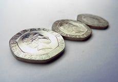 Il Regno Unito conia 20p Fotografie Stock Libere da Diritti