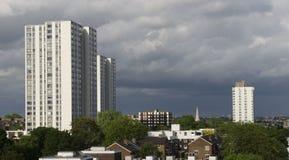 Il Regno Unito d'abitazione sociale Fotografia Stock Libera da Diritti