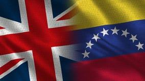 Il Regno Unito ed il Venezuela fotografie stock libere da diritti