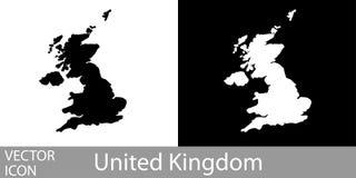 Il Regno Unito ha dettagliato la mappa illustrazione vettoriale