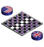 Il Regno Unito mette in versi gli Stati Uniti Fotografia Stock Libera da Diritti