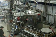 Il Regno Unito, Scozia 17 05 Produzione 2016 della distilleria del whiskey di Glen Grant Speyside Single Malt Scotch 3 fotografia stock libera da diritti
