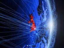 Il Regno Unito su terra digitale blu blu fotografie stock libere da diritti