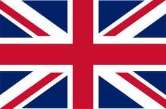 Il Regno Unito Union Jack Bandierina del Regno Unito Colori ufficiali Proporzione corretta Illustrazione di vettore La bandiera b illustrazione di stock