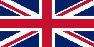 Il Regno Unito Union Jack Bandierina del Regno Unito Colori ufficiali Proporzione corretta Vettore illustrazione vettoriale