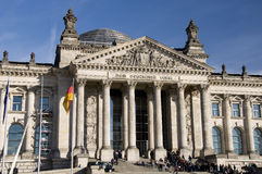 Il Reichstag a Berlino, ottobre 2010 Fotografia Stock