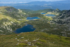 Il rene, il gemello, il trifoglio ed i laghi fish, montagna di Rila Fotografia Stock