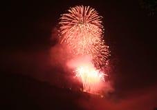 Il Reno in fiamme Immagini Stock Libere da Diritti