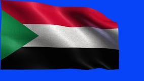 Il Repubblica Sudanese, bandiera del Sudan - CICLO senza cuciture stock footage
