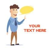 Il responsabile comunica con il cliente Di impiegato freelancer Uomo sul lavoro A in vestiti di affari Vettore Fotografie Stock