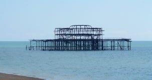 Il resti del pilastro ad ovest distrutto a Brighton Fotografia Stock