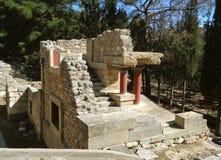Il resti del sito archeologico antico di Cnosso, Candia, Grecia Immagine Stock