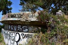 Il resti di Miley forte ad ovest abbellito nell'ambito dei graffiti, 24 Fotografia Stock